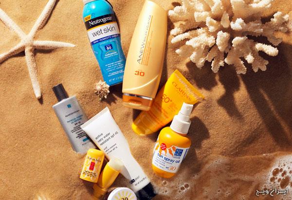 منافع استفاده از ضد آفتاب