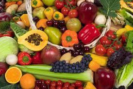 خاصیت مواد غذایی بر اساس رنگ آنها