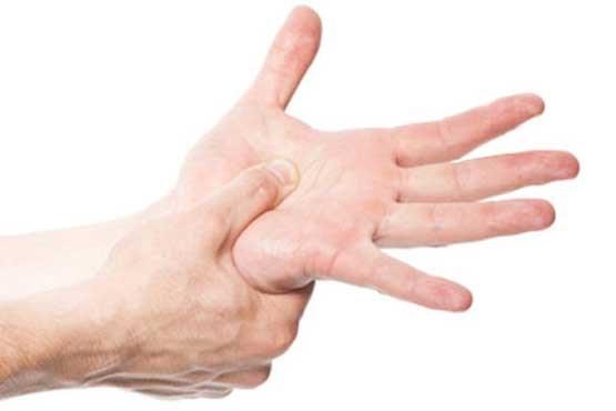 اسپاسم عضلات دست