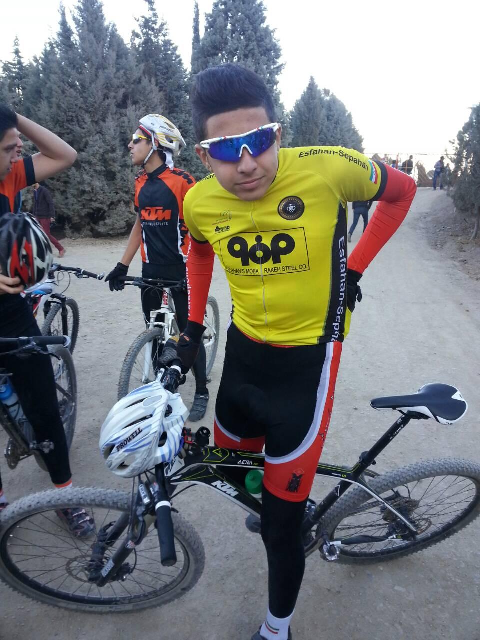 نایب قهرمانی دوچرخه سوار اصفهانی در آسیا