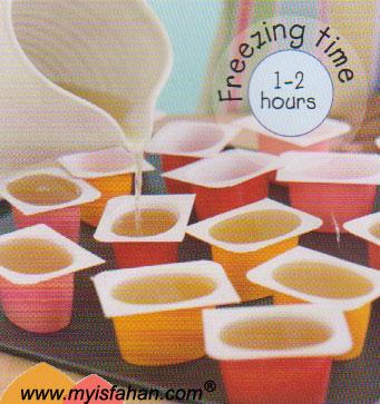 طرز تهیه بستنی یخی لیمویی