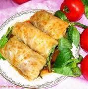 ساندویچ گوشت و سبزیجات