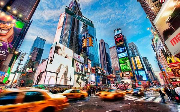 لیست 10 میدان برتر دنیا - میدان تایم نیویورک