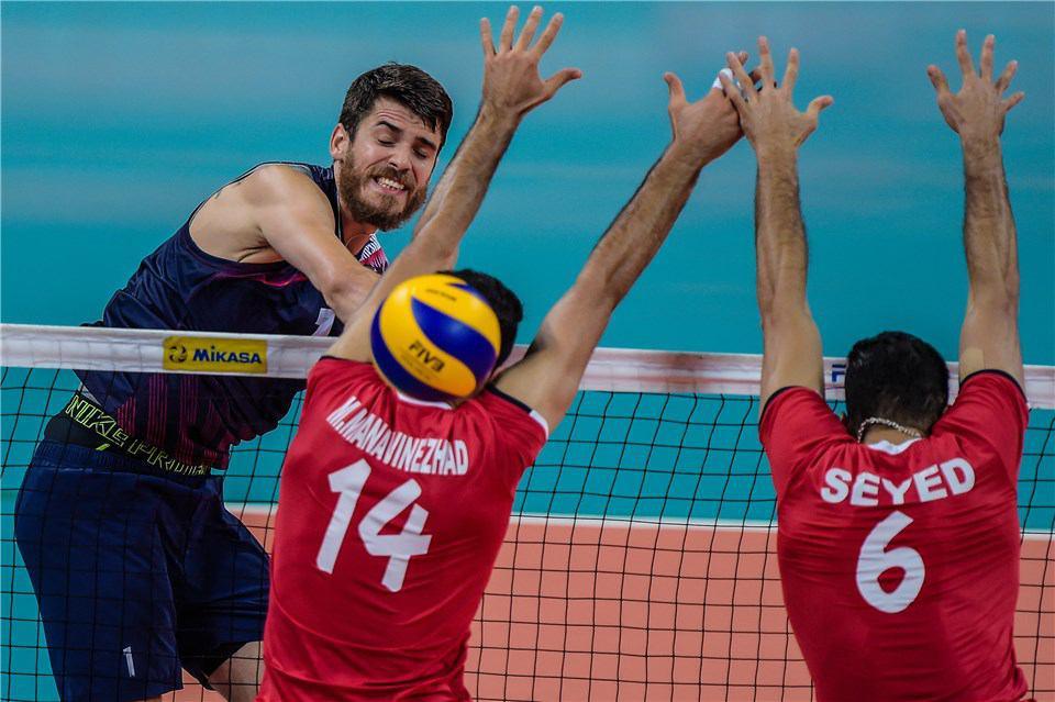دومین شکست تیم والیبال ایران