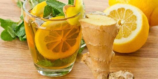 چای زنجبیل و لیمو برای درمان چاقی